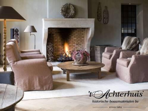 ≥ antieke zandsteen marmeren en houten schouwen t achterhuis