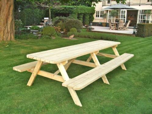 Verbazingwekkend ≥ Houten Picknicktafels 3 meter Robuust GOEDKOPE Picknicktafel DB-24