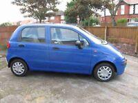 Good runaround 2002 reg Daewoo Matiz blue