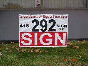 $1.00 LOWEST SPECIAL PRICE FOR COROPLAST SIGNS