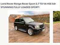 Immacualte Range Rover Sport with black grills and new alloys