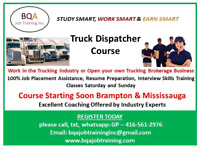TRUCK DISPATCHER COURSE ON WEEKENDS OR WEEK DAYS