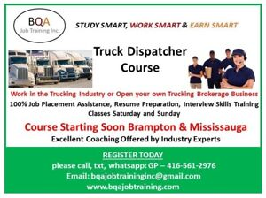 DISPATCHER COURSE ON WEEKENDS AND WEEK DAYS IN BRAMPTON