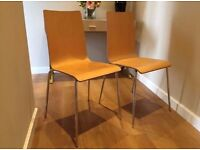 Pair of wooden chairs. £20 for both
