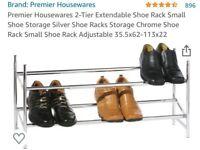 Extendable Chrome Shoe Rack