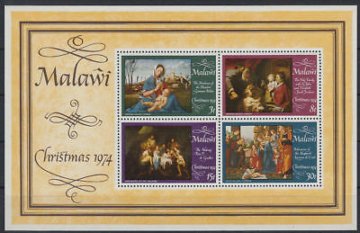 Malawi 1974 ** Bl.38 Weihnachten Christmas Gemälde Paintings [st3307]