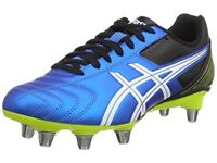 Asics Lethal Tackle Blue White Men's Rugby Boots size 9 collect in Burnham