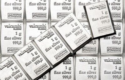 10 x 1 gram Valcambi Suisse Silver Bars   .999   Lot of 10   Volume Pricing