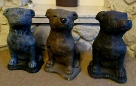 Large Staffie dog statues.