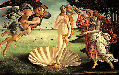 Birth of Venus  by Sandro Botticelli   Giclee Canvas Print Repro