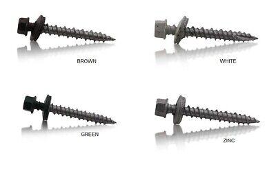 10 Hex Head Self Piercing Sealing Color Screws Metal Roof Pole Barn Steel Sheet