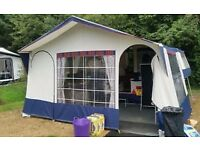 WANTED 1994-95 Conway Challenger trailer tent awning in blue and grey with poles.