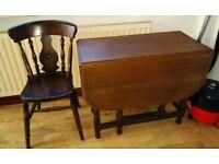 Antique vintage table & chair