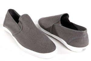 NEW-AMERICAN-RAG-MENS-CASUAL-GRAY-CYRUS-CANVAS-SLIP-ON-SNEAKERS-SHOES-LOAFERS