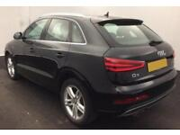 2014 BLACK AUDI Q3 1.4 TFSI 150 S LINE PETROL AUTO CAR FINANCE FROM 46 PW