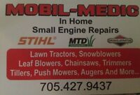 Mobil-Medic. Small Engine Repairs (In Home)