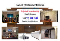 Home Entertainment Room Installation Service - TV Wall Mounting.