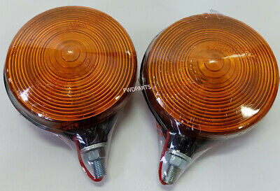 Use For Kubota Tractor L 4508 Series Signal Warning Lights Hazard Lamps 2 Pcs