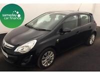 ONLY £144.47 PER MONTH BLACK 2013 VAUXHALL CORSA 1.2 VVT SE 5 DOOR PETROL MANUAL
