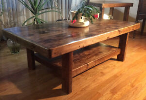 Rustic Mission Coffee table , reclaimed wood!