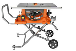 "10"" Rigid Table Saw with stand"