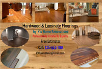 Hardwood and Laminate Floors Installation by KW Home Renovations