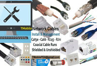Wired LAN and Wireless WIFI Networks and Cat6 Cables Management.