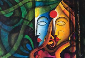 Acrylic Radha Krishna (Abstract)