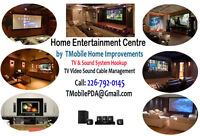 Home Entertainment System - Design- Implement - TV Wall Mounting