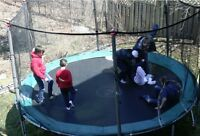Used Trampoline with new bumper pads - AS IS