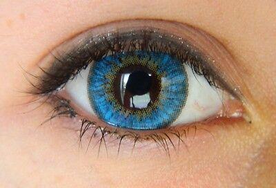 1 PAIR BLUE Coloured Contact Lenses Kontaktlinsen color lens color lentilles (Blue Color Contact Lens)