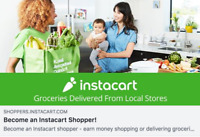 Work When You Want. Paid Weekly! Be An Instacart Shopper!