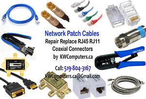 Network Patch Cables - Repair RJ45 RJ11 & Coaxial Connectors....