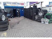 Tyre shop . Car & van tyres . New & used part worn tires . TIRE SHOP