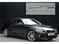 2012 '62' BMW 3 Series 320d M Sport Diesel ( 184bhp ) *Black Leather + 19's*