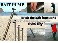 Bait pump and fishing rod rest/stand