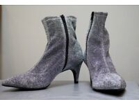 Brand New Marks & Spenser's Silver Heels, size 6 with Sticker tag