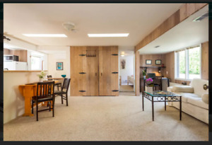 2 bedroom furnished garden level suite (West Point Grey)