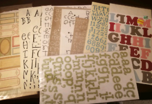 10 sheets of Self-Adhesive Letters/rub-ons