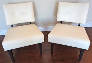 Leather Slipper Chairs (Set of 2)