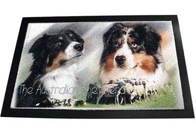 Designer Fußmatte Australian Shepherd 6 Australischer Schäferhund Hundeteppich
