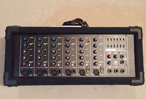 Yorkville Mixer/Amp with Wharfedale Pro Speakers and Shure Mic