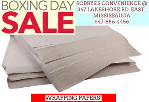 WRAPPING PAPERS!- BOXING WEEK SALE!