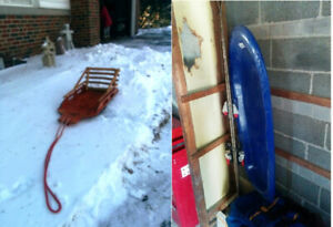 Sleds – Two – Wood and Plastic Models – Deal for Both $100
