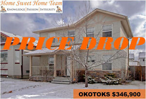 PRICE REDUCED 3 BED OPEN CONCEPT OKOTOKS HOME FOR SALE