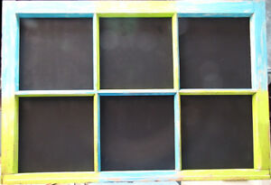 Recycled Antique Windows - Corkboard and Chalkboard