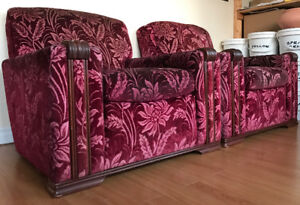 Vintage Sofa & 2 Club Chair - made in Montreal - Good condition!