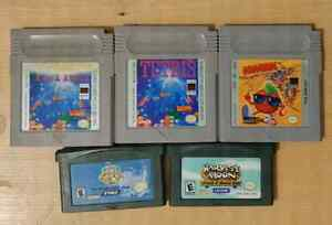 Nintendo Gameboy and GBA games Game Boy Advance