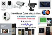 Surveillance Camera Video Doorbells Wifi Thermostat Installation