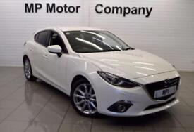 2014 14 MAZDA 3 2.0 SPORT NAV 5D 163 BHP 6SP SPORTS HATCH,WHITE, 52,000 MAZDA SH